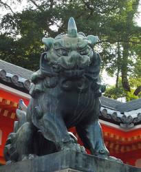 Japanese Gardian Komainu by SheltieWolf