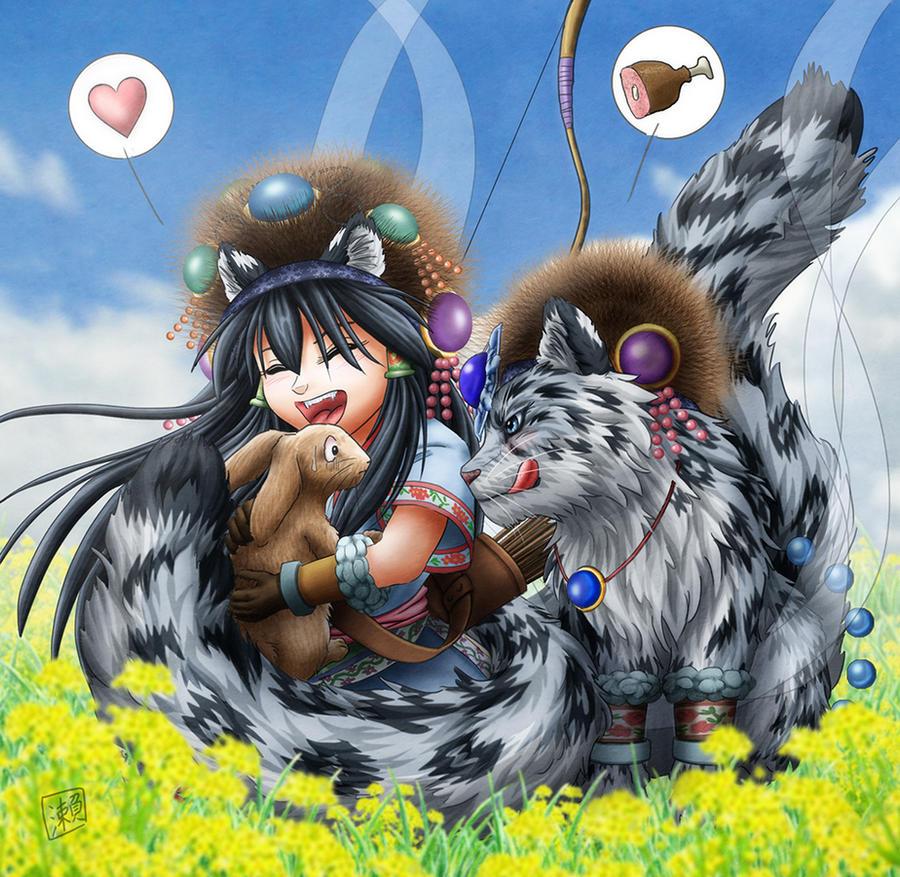 Girl of Grassland
