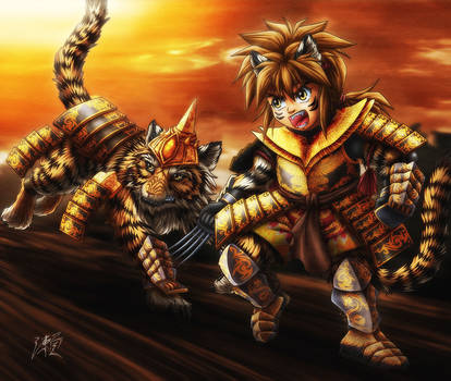 Tiger Warrior by SheltieWolf