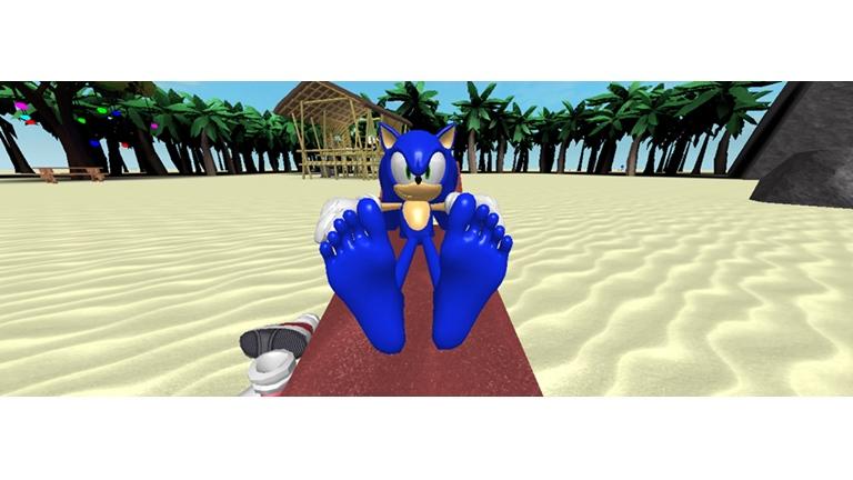 Sonic S Sunbathing Feet Roblox By Robloxamy On Deviantart