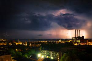 Copenhagen Lightning by chilouX