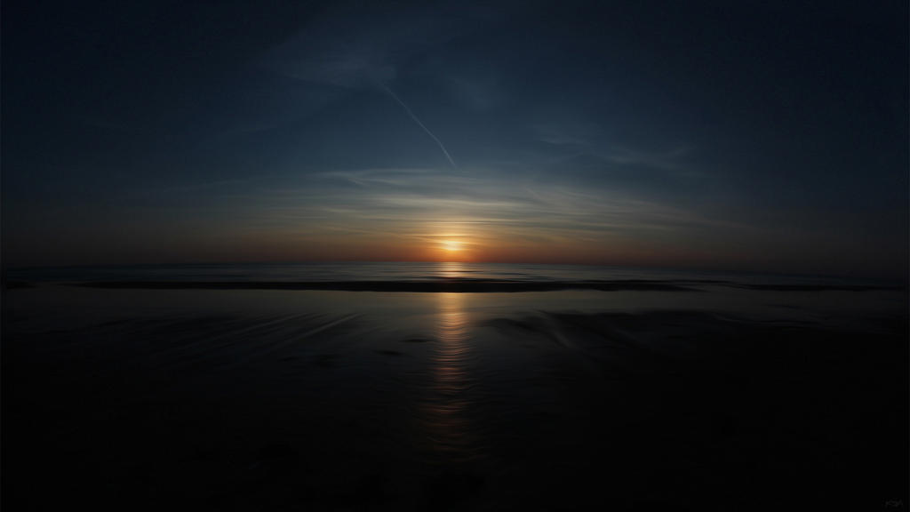 Sunset Blokhus by kasperja