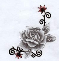 rose tribal tattoo design 3