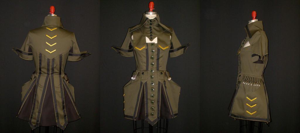 Militarism Dress by MaryjaneDesignStudio