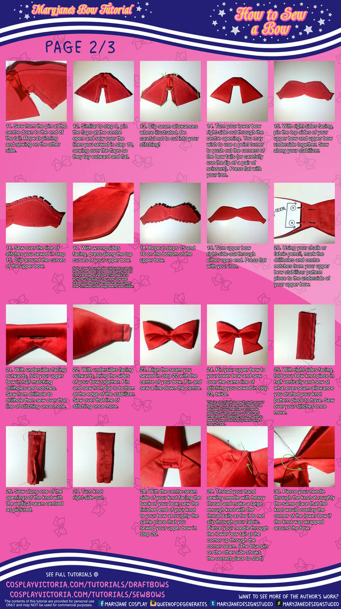 How to Sew a Bow (2/3) Maryjane's Bow Tutorial