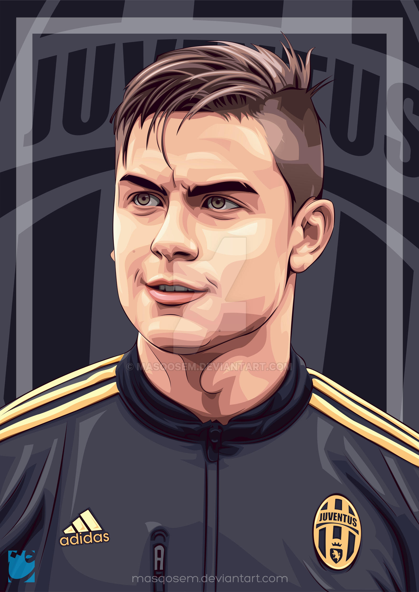 Paulo Dybala in Vector by masqosem by masqosem on DeviantArt