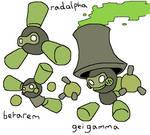 Fakemon: Radalpha family