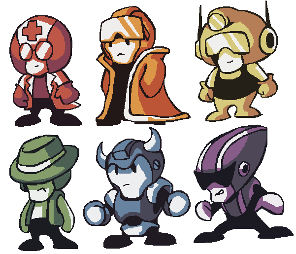ROBODUNGEON classes art by brotoad