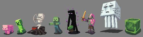 Minecraft Sprites by splendidland