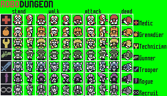 ROBODUNGEON: Class sprites by brotoad