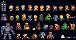 Mini Doctor Who sprites by brotoad