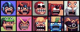 Megaman Sprite Comic Icons by brotoad
