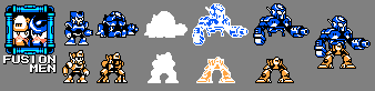 Fusion Men Sprites by brotoad