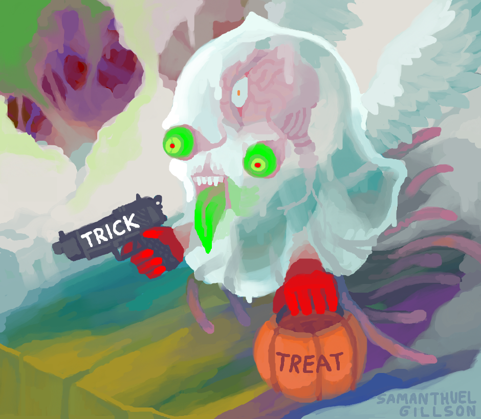 Halloween Ghost by brotoad