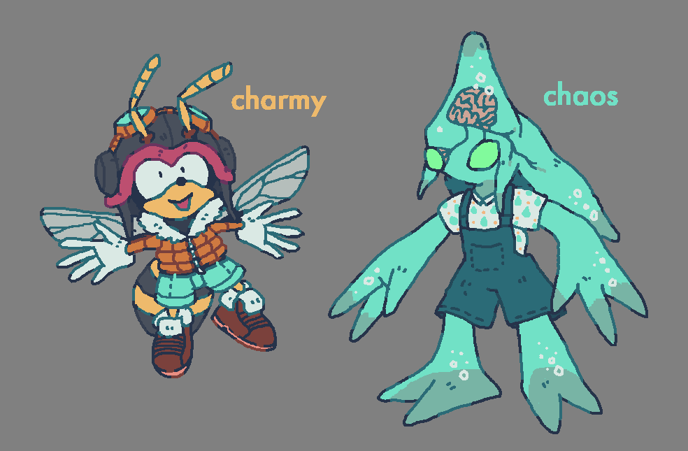Charmy and Chaos by brotoad