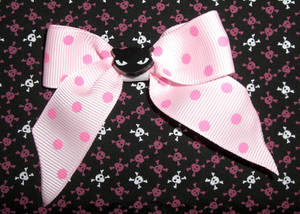 cUtE Cat hAiR-bOw pink kItsCh