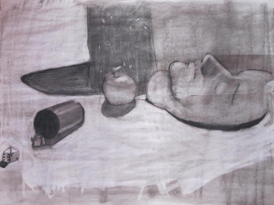 O.D. Class - Still life Charcoal by Reploid-Man