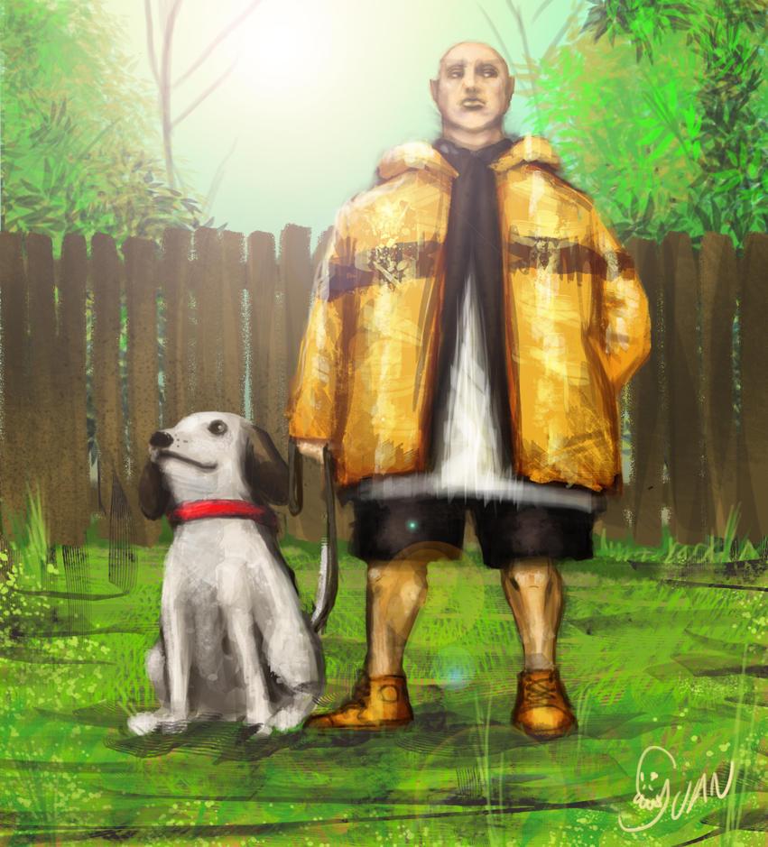 Carlos Brown y su perro by J-Perro