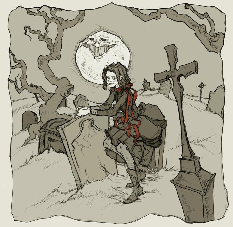 Amarantha in the Graveyard by AbigailLarson