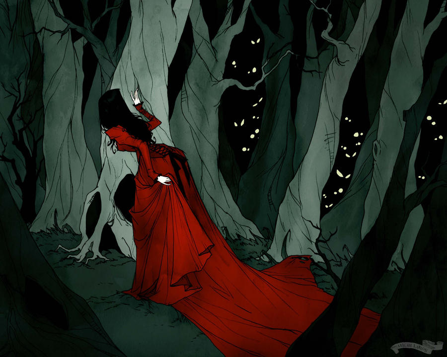 Snow White in the Woods by AbigailLarson
