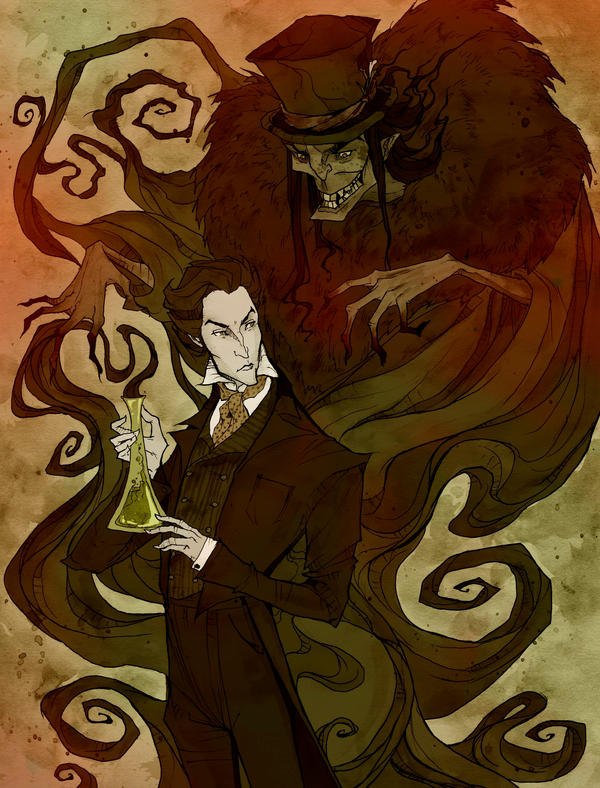 Line Art With Mr E : Jekyll and hyde by abigaillarson on deviantart
