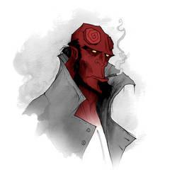Hellboy Warm-Up by AbigailLarson