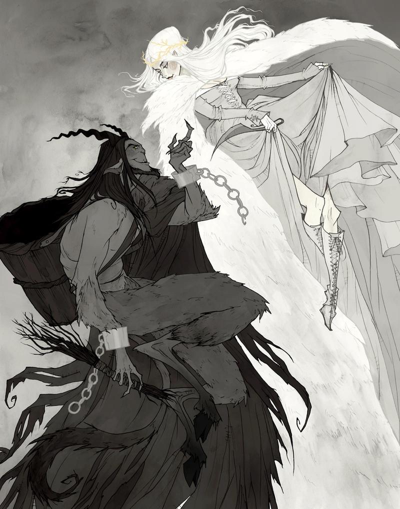 Krampus and Perchta by AbigailLarson
