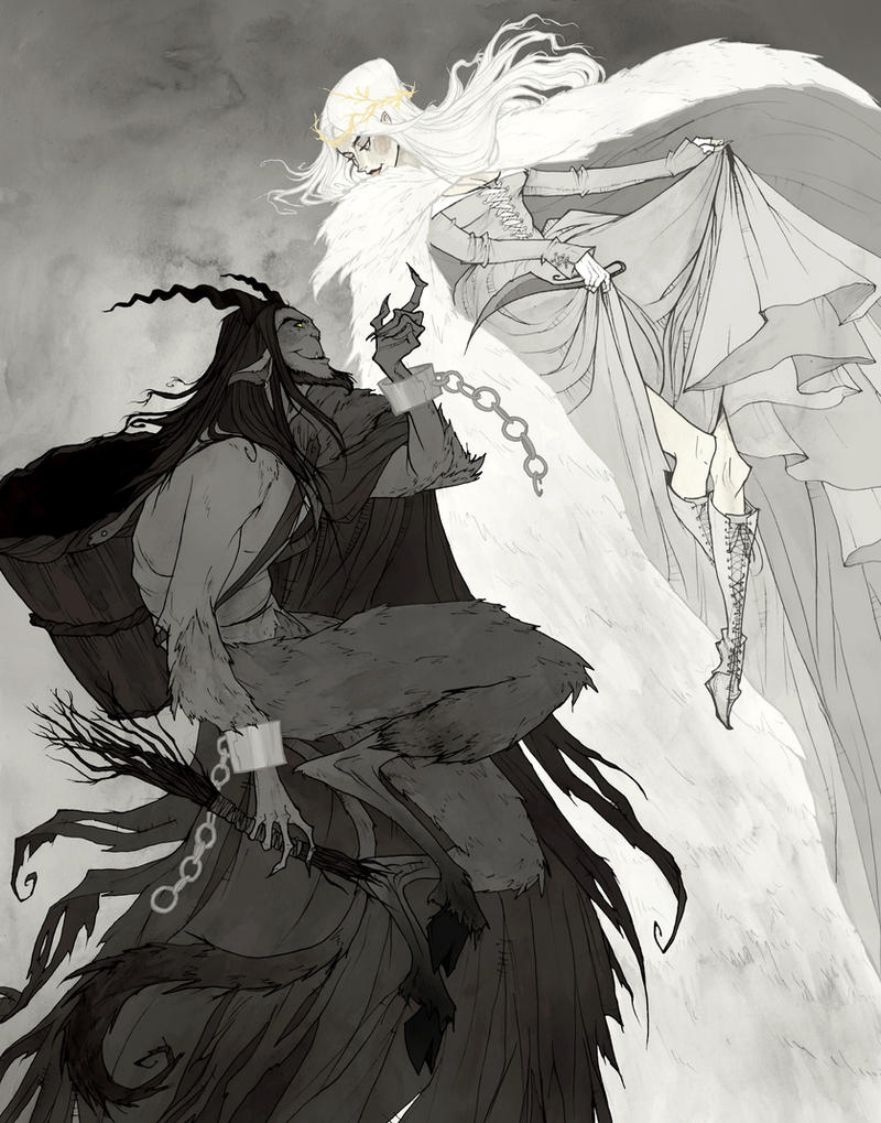 Krampus and Perchta