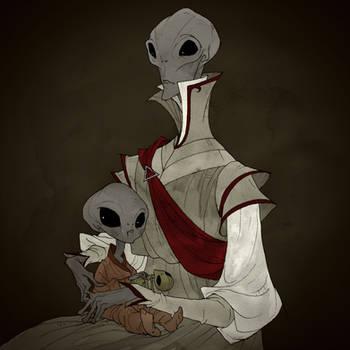 Drawlloween 2017 - Alien by AbigailLarson