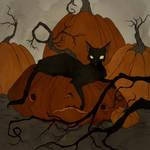 Drawlloween 2017 - Black Cat