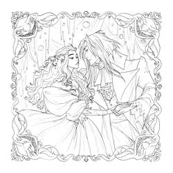 Labyrinth Digital Coloring Page by AbigailLarson