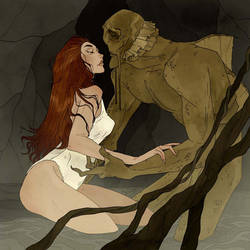 Drawlloween - Creature from the Black Lagoon by AbigailLarson