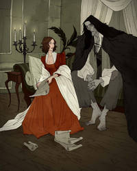 Mary Shelley and Her Creation by AbigailLarson