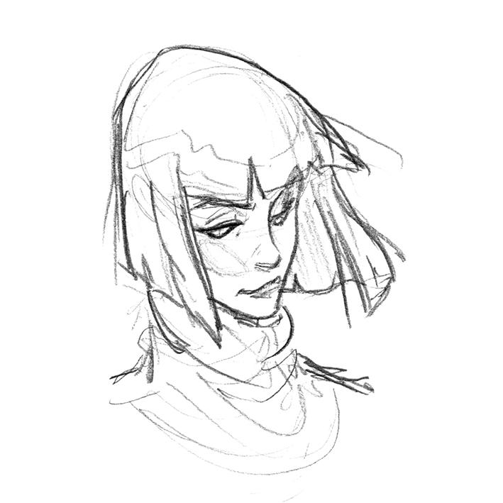 Retro Hair Tutorial Sketch1