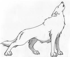 Howling Wolf Tattoo Design