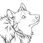 Curious Wolf Icon Lines