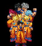 Goku faces