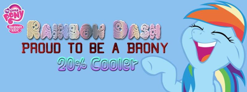 Rainbow Dash Facebook Cover by AceofPonies