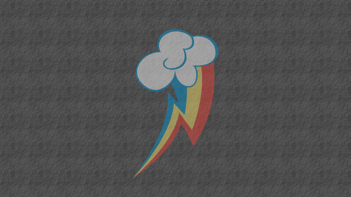 Rainbow Dash Cutie Mark Wallpaper by AceofPonies