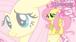 Fluttershy Wallpaper by AceofPonies