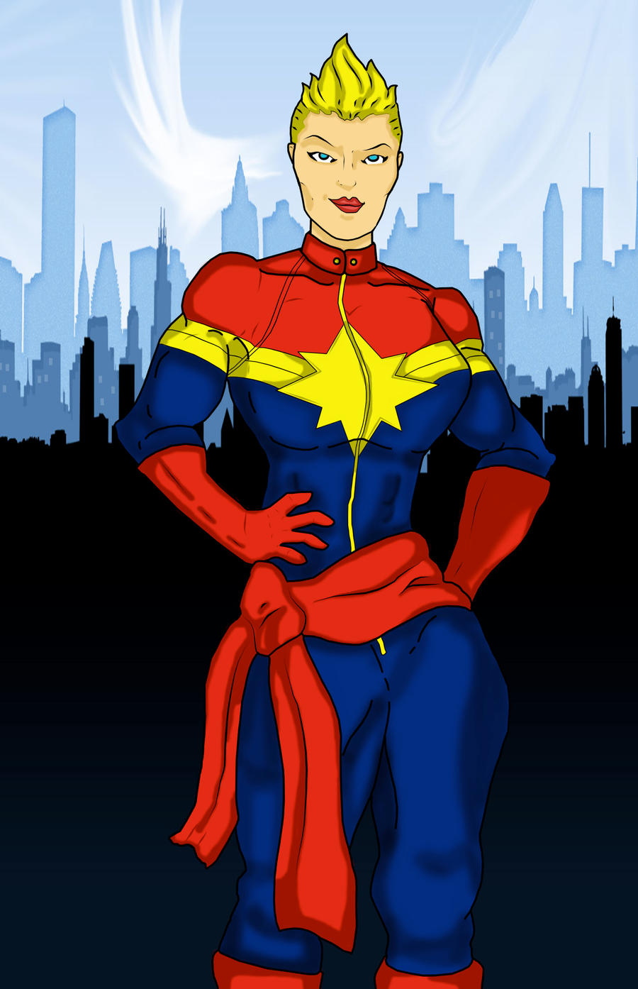 Captain Marvel/Ms Marvel colored by disposablepal