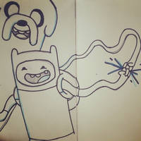 Finn and Jake doodle by disposablepal