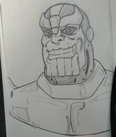 Thanos doodle by disposablepal