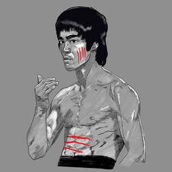 Bruce Lee by disposablepal