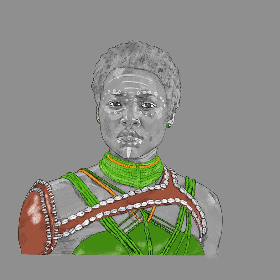 Black Panther Lupita Nyongo by disposablepal
