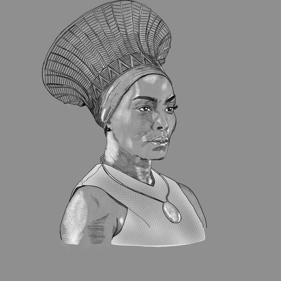 Black Panther Ramonda (Angela Bassett) by disposablepal