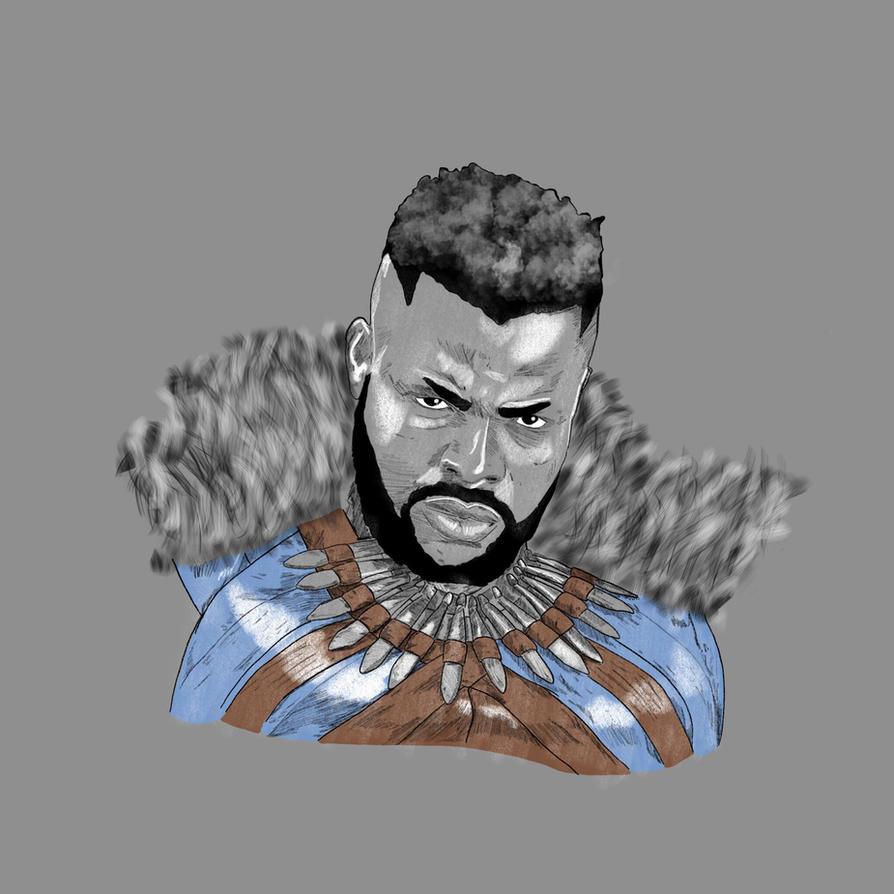 Black Panther MBaku (Winston Duke) by disposablepal