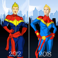 Draw it again. Captain Marvel