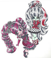 Draculaura and Frankie Stein - Sweet Screams by zombieforcandy