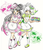 Callie and Marie - Human by zombieforcandy